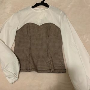 Puff sleeve corset top